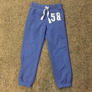 Girl's H&M L.O.G.G. Blue Sweat Pants Sz 5-6 yrs